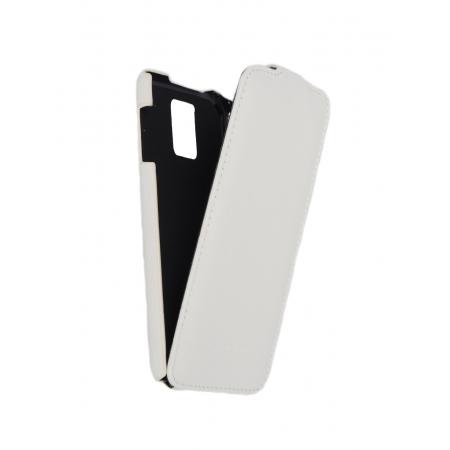 Кожаный чехол книжка Melkco для Samsung Galaxy S5 - Jacka Type - белый