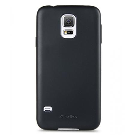 Силиконовый чехол Melkco Poly Jacket TPU Case для Samsung Galaxy S5 Mini - черный матовый