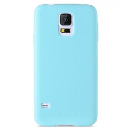Силиконовый чехол Melkco Poly Jacket TPU Case для Samsung Galaxy S5 Mini - голубой