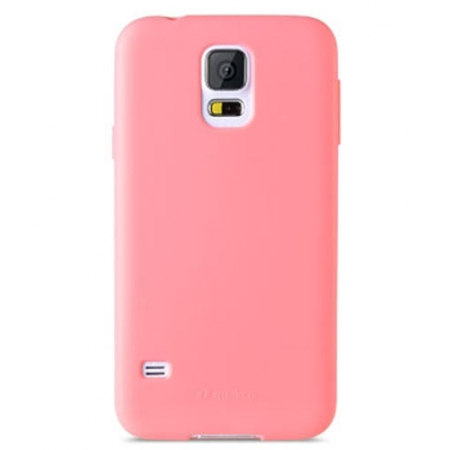 Силиконовый чехол Melkco Poly Jacket TPU Case для Samsung Galaxy S5 Mini - розовый