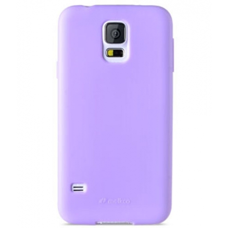 Силиконовый чехол Melkco Poly Jacket TPU Case для Samsung Galaxy S5 Mini - сиреневый