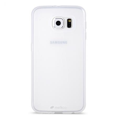 Силиконовый чехол Melkco Poly Jacket TPU case для Samsung Galaxy S6 - прозрачный матовый