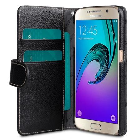 Кожаный чехол Melkco для Samsung Galaxy S7 - Wallet Book Type - черный