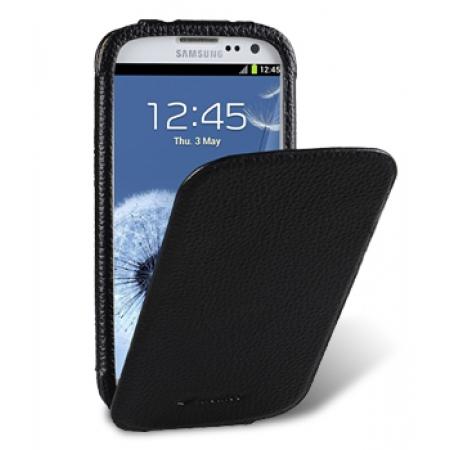 Кожаный чехол Melkco для Samsung Galaxy S3 GT-I9300 - Diary Flip Type - чёрный