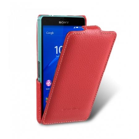Кожаный чехол Melkco для Sony Xperia Z3 Compact / Z3 Mini / D5803 - Jacka Type - красный