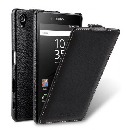 Кожаный чехол Melkco для Sony Xperia Z5 Premium - Jacka Type - чёрный