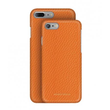 Кожаный чехол Moodz для iPhone 8/7 Floater leather Hard Agrumi - оранжевый