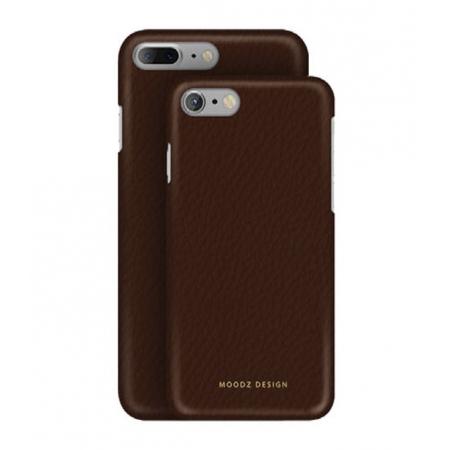 Кожаный чехол Moodz для iPhone 8/7 Floater leather Hard Chocolate - коричневый