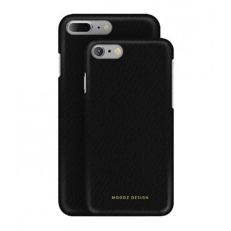 Кожаный чехол Moodz для iPhone 8/7 Floater leather Hard Notte - чёрный