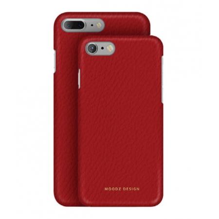 Кожаный чехол Moodz для iPhone 8 Plus/7 Plus Floater leather Hard Rossa - красный