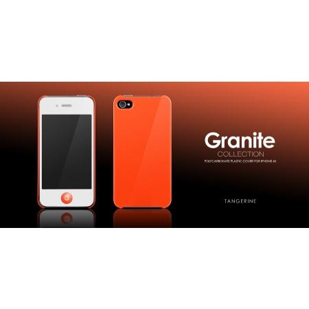Пластиковый чехол More Granite Collection для Apple iPhone 4/4S - мандариновый