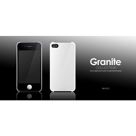 Пластиковый чехол More Granite Collection для Apple iPhone 4/4S - белый