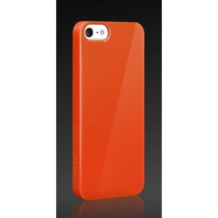 Пластиковый чехол More Granite Ultra Slim для Apple iPhone 5/5S / iPhone SE - мандариновый
