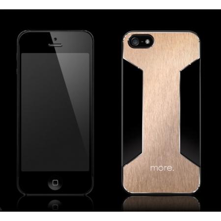 Чехол More Para Blaze X для Apple iPhone 5/5S / iPhone SE - черный с золотистой вставкой