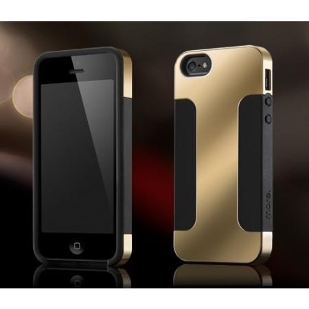 Чехол More Para Duo Metal для Apple iPhone 5/5S / iPhone SE - черный с золотистой накладкой