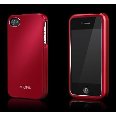Металлический чехол More Armor Metal Hybrid Case для Apple iPhone 4/4S - красный
