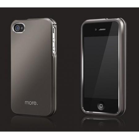 Металлический чехол More Armor Metal Hybrid Case для Apple iPhone 4/4S - титановый