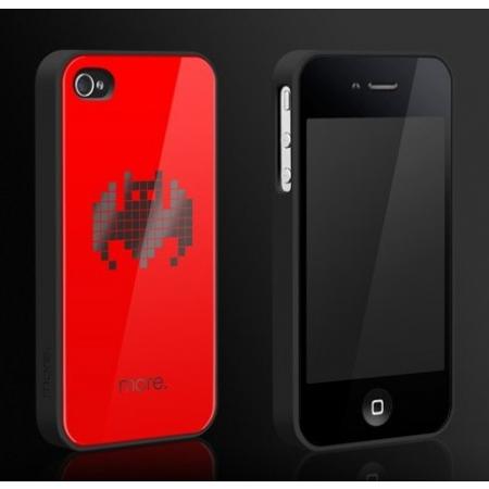 """Пластиковый чехол Cubic Black Exclusive для iPhone 4/4S - """"Летучая мышь"""""""