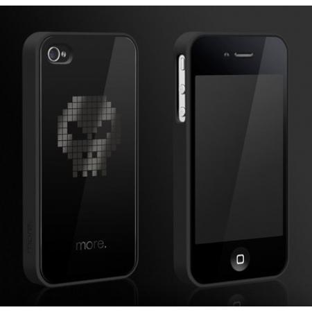 """Пластиковый чехол Cubic Black Exclusive для iPhone 4/4S - """"Череп"""""""