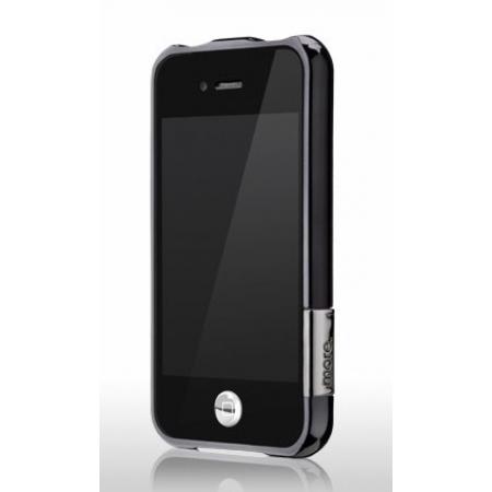 Бампер More Color Gem Lucent Jelly Ring для iPhone 4S / 4 - чёрный