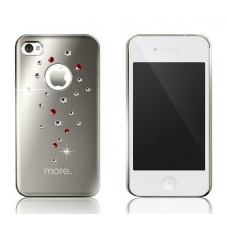 Панель More Noel Collection (Lumina Series) для iPhone 4/4S украшенная кристаллами от SWAROVSKI® - серебристая