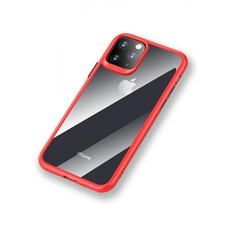 Чехол накаладка Rock Guard Pro Protection Case для Apple iPhone 11, прозрачный красный