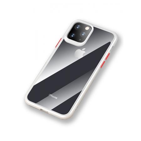 Чехол накаладка Rock Guard Pro Protection Case для Apple iPhone 11, прозрачный белый