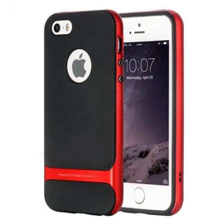 Силиконовый двухкомпонентный чехол Rock Royce Series для Apple iPhone 5/5S / iPhone SE - красный