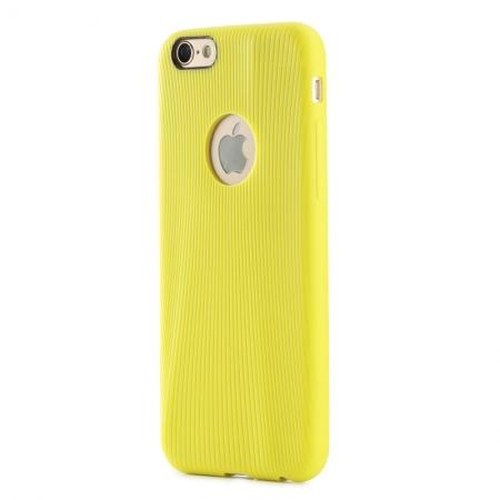 """Силиконовый чехол Rock Melody Series для Apple iPhone 6/6S (4.7"""") - желтый"""