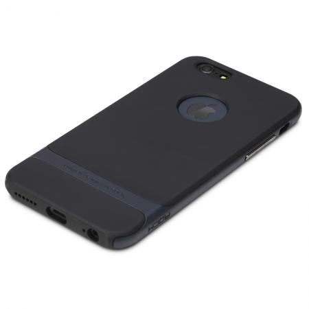 """Силиконовый чехол Rock Royce Series для Apple iPhone 6/6S Plus (5.5"""") - черный с темно-синим"""