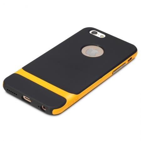 """Силиконовый чехол Rock Royce Series для Apple iPhone 6/6S Plus (5.5"""") - черно-оранжевый"""