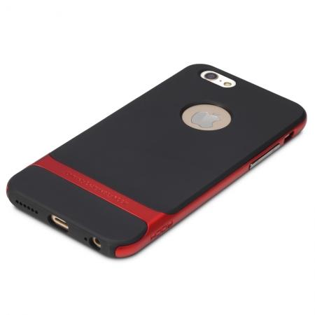 """Силиконовый чехол Rock Royce Series для Apple iPhone 6/6S (4.7"""") - черно-красный"""