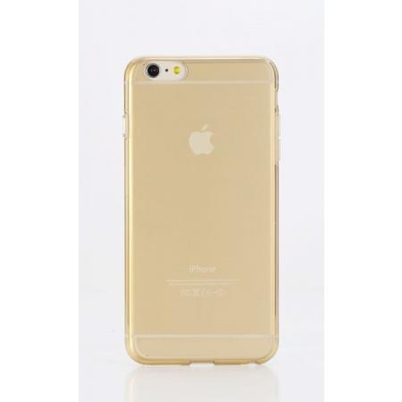 """Силиконовый чехол Rock Slim Jacket для Apple iPhone 6/6S Plus (5.5"""") - прозрачный золотистый"""