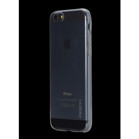 """Силиконовый чехол Rock Slim Jacket для Apple iPhone 6/6S Plus (5.5"""") - прозрачный черный"""