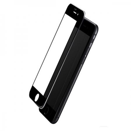 Защитное противоударное стекло на экран Rock Anti-crush full screen 2.5D для iPhone 8 Plus/7 Plus - цвет чёрный