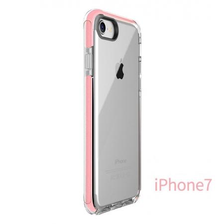 Силиконовый противоударный TPU-TPE чехол Rock Guard Series для Apple iPhone 8/7 - прозрачный розовый