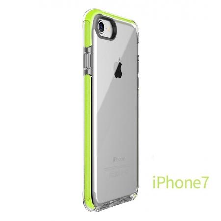 Силиконовый противоударный TPU-TPE чехол Rock Guard Series для Apple iPhone 8/7 - прозрачный зелёный