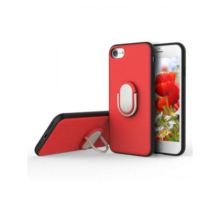 Чехол накладка с кольцом Rock Ring Holder Case M1 для Apple iPhone 7/8 - красный