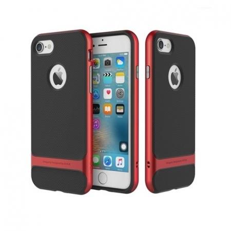 Двухкомпонентный силиконовый TPU-PC чехол Rock Royce Series для Apple iPhone 8/7 - черно-красный