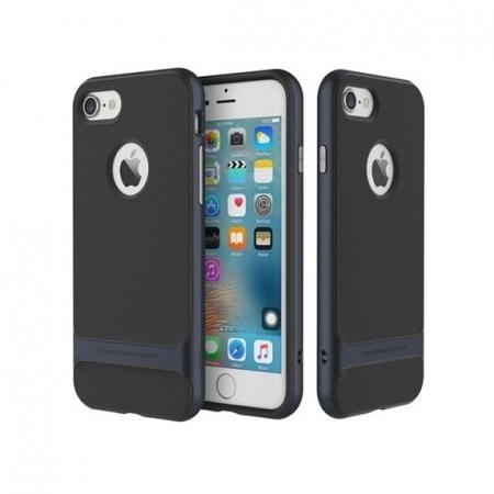 Двухкомпонентный силиконовый TPU-PC чехол Rock Royce Series для Apple iPhone 8/7 - черно-синий