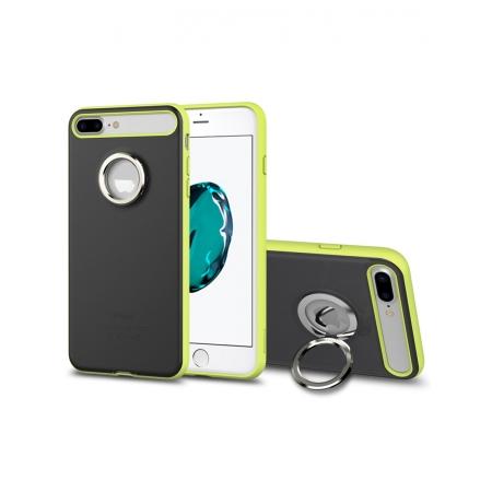 Чехол накладка с кольцом Rock Ring Holder Case M2 для для Apple iPhone 7 Plus/8 Plus - черный, лимонный