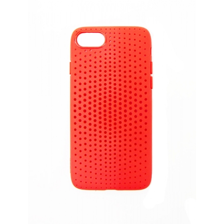 Чехол накладка TPU Rock Dot Series для Apple iPhone 7/8, красный