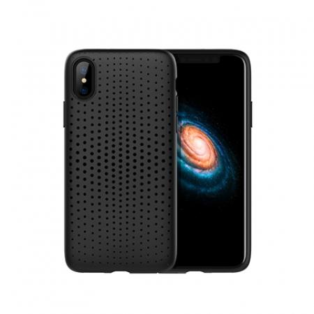 Чехол-накладка TPU Rock Dot Series для Apple iPhone X/XS, черный