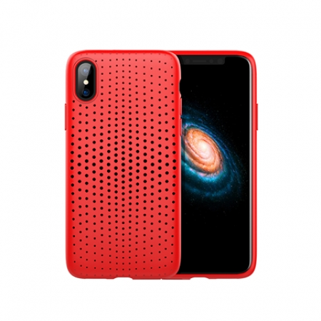 Чехол-накладка TPU Rock Dot Series для Apple iPhone X/XS, красный