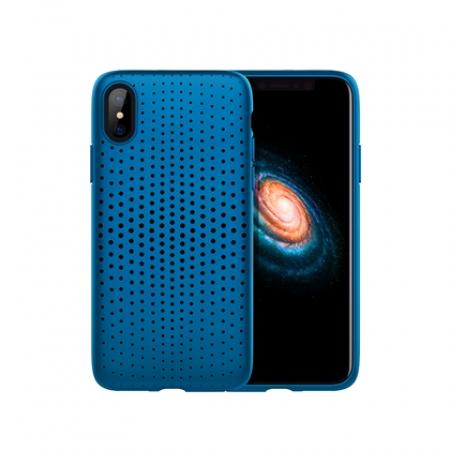 Чехол-накладка TPU Rock Dot Series для Apple iPhone X/XS, синий