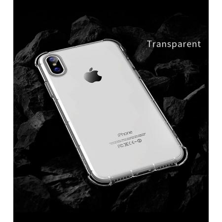 Силиконовый противоударный TPU чехол Rock Fence S Series для iPhone X/XS - прозрачный