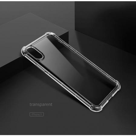 Чехол накладка Rock Space Fence Pro для iPhone X/XS - прозрачный