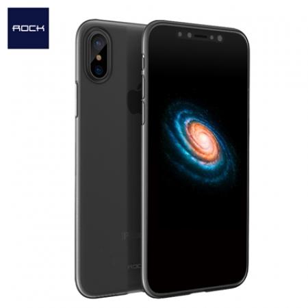 Ультратонкий чехол накладка Rock Naked Shell series PP для iPhone X/XS - прозрачно-черный