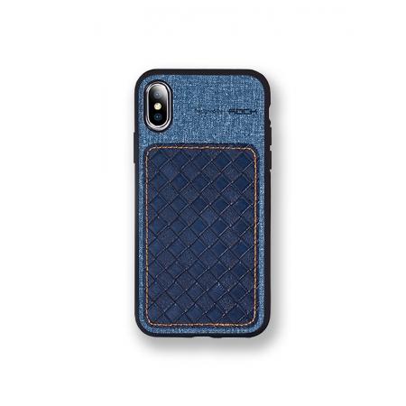 Чехол накладка Rock Origin Series для Apple iPhone X/Xs, темно-голубой