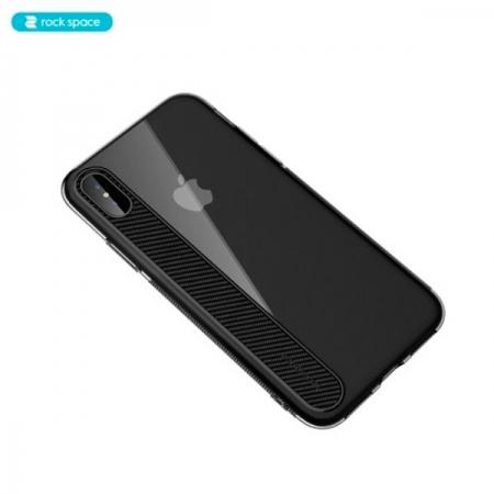 Чехол накладка Rock Space Ace для iPhone X/XS - прозрачно-черный